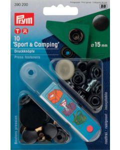 Druckknöpfe 'Sport & Camping', brüniert, 15mm