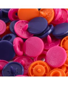 Prym runde Druckknöpfe 'Love' in 10 Farbkombinationen