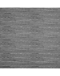 Gestreifter Jersey Stoff in grau mit Streifen in off-white - der Stoff ist aus Baumwolle - bielastisch