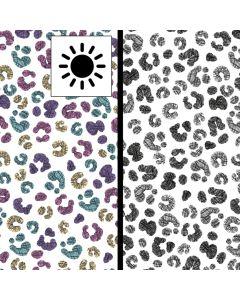 Magic farbwechsel Jersey Stoff mit Blumenmotiven, die in der Sonne bunt werden - bielastische Single Jersey Qualität aus Baumwolle für Damen- und Kinderkleider.