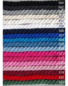 Runde Kordeln aus Baumwolle mit 10mm Breite - die Kordeln sind sehr dick, perfekt für Taschen und Deko, evtl. auch für Bekleidung.