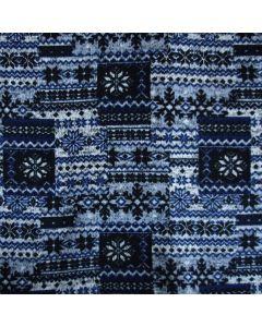 Warmer feinstrick Stoff mit winterlicher Musterung für Pullis, Tunikas oder Strickkleider.
