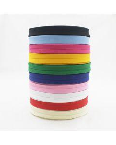 Budgetpackung uni Schrägband aus 100% Baumwolle in 12 Farben - 25mm breit - 5m