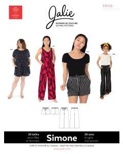 Schnittmuster für 'wide-leg' Sommerhosen in verschiedenen Längen von Jalie - Nr. 3908 'Simone'