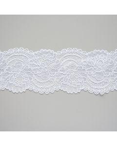 Elastische Spitze in weiss - 7cm breit