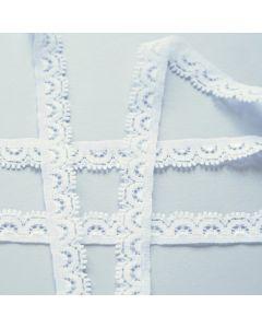 Budgetpackung elastische Spitze in ivory - 12mm breit, 5m