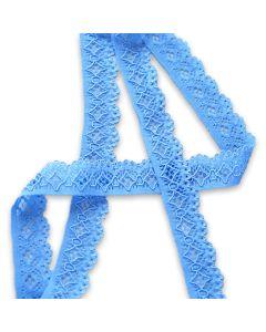 Budgetpackung Spitzenband in hellblau - 2cm breit, 5m