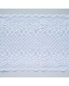 Elastische Spitze in weiss - 65mm breit