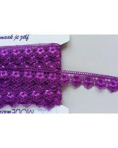 Guipure-Spitzenband, lila (Col. 19)