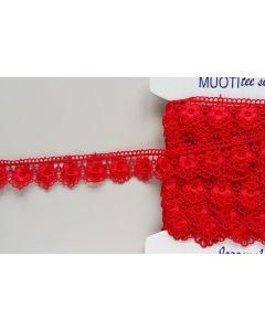 Guipure-Spitzenband, 3cm breit, rot