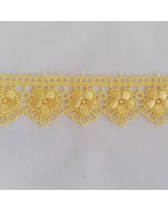 Guipure-Spitzenband, 3cm breit, gelb