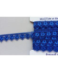 Guipure-Spitzenband, königsblau (Col. 40)