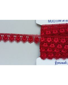 Guipure-Spitzenband,  rubinrot (Col. 41)