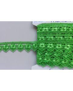 Guipure-Spitzenband,  hellgrün (Col. 411)