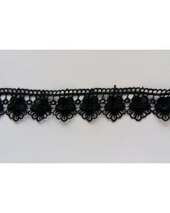 Guipure-Spitzenband, schwarz (Col. 725)