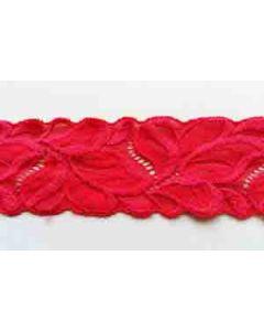 Elastisches Spitzenband in rot
