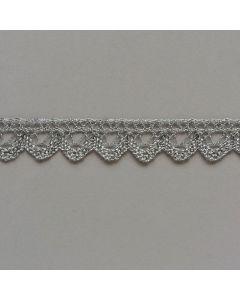 Spitzenband, 15mm breit, silber