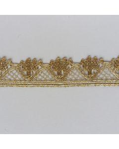 Spitzenband, 2.5cm breit, gold