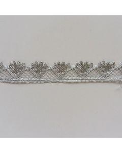 Spitzenband, 25mm breit, silber