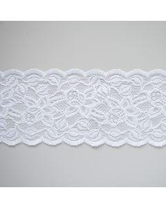 Weiche, elastische Spitze - 9cm breit in Bandform für Bordüren, Unterwäsche und hautnahe Bekleidung.