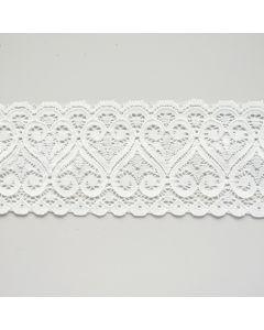 Elastische Spitze in ecru - 3.5cm breit für Abschlüsse an Oberbekleidung und Unterwäsche.