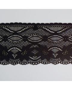 Elastische Spitze in schwarz - 10cm breit