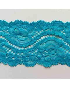 Elastisches Spitzenband, 6cm breit, türkis