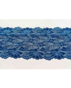 Elastisches Spitzenband, blau