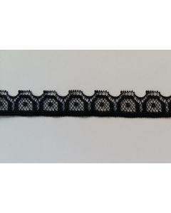 Budgetpackung Spitzenband, schwarz, 5m
