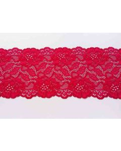 Spitzenband, rubinrot, 15.5 cm breit