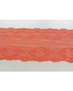 Spitzenband in orange, 15.5 cm breit
