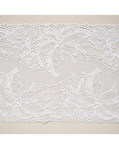 Elastische Spitze in weiss - 17cm breit