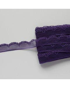 Budgetpackung Spitze in violett - 17mm breit, 5m