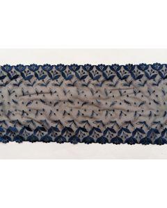 Elastisches Spitzenband, dunkelblau