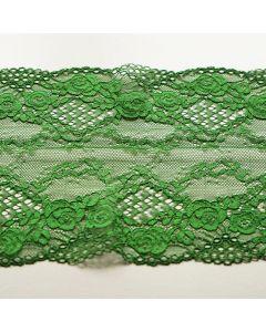 Elastische Spitze in grün - 17.5cm breit