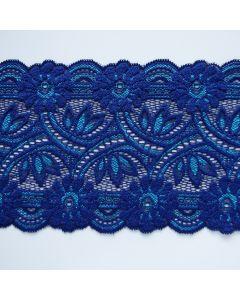 Elastische Spitze - Spitzenband in blau-aquamarine - 13cm breit