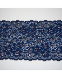 Elastisches Spitzenband zwei Bogenkanten. Sehr weiche Qualität mit grossen, gegengleichen Blumenmuster.  Diese Spitze ist perfekt für hautnahe Bekleidung oder Unterwäsche.  Eigenschaften Die Spitze ist 22cm breit, elastisch, matt, sehr weich.  Nade