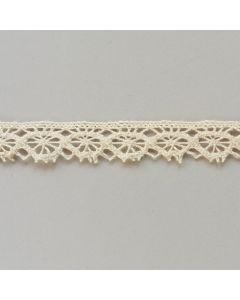 Klöppelspitze, 17mm breit, hellbeige