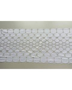 Elastisches Spitzenband, weiss, 23cm breit