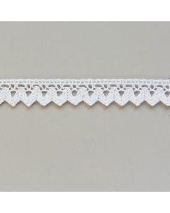 Klöppelspitze, weiss oder ecru, 15mm breit