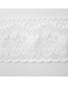Silikonbeschichtete Antirutsch-Spitze in ivory - elastisch - 6.5cm breit