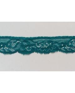 Elastisches Spitzenband, türkis, 3cm breit