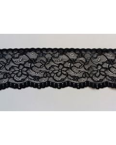 Spitzenband, schwarz, 7.5cm breit