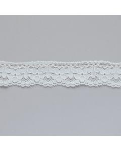 2.5cm breite Spitze in ecru für Unterwäsche und Bekleidung.