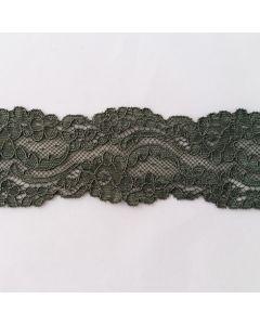 Elastische Spitze, olivgrün, 5cm breit