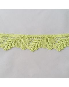 Guipure-Spitze, apfelgrün, 3.5cm breit