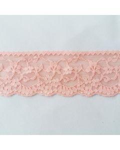 Elastische Spitze, Aprikose, 5cm breit