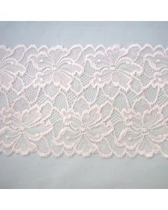 Elastische Spitze in hellrosa - 16cm breit