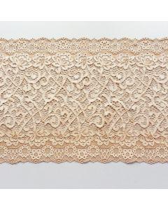 Elastische Spitze, Hautfarbe, 22cm breit