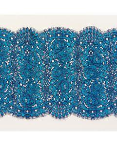 Spitze, blau-türkis, 23cm breit, 1.3m